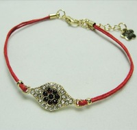 New arrive  Wholesale 30Pcs/lot 2*1.2cm  Evil Eye Bead Hamsa Hand  Fatima Charm Handmadke Bracelet