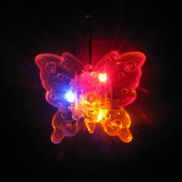 Ktv bar supplies flash hangings necklace transparent butterfly colorful flash