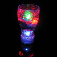 Ktv supplies flashing wine glass luminous cola cup colorful flash cup with switch