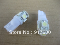 2Pcs T10 Car WEDGE 5050 3CHIPS LIGHT 5 SMD LED BULBS White