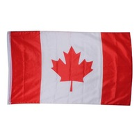 Canada 3 x 5Ft Flag- Printed Polyester Flag For Outdoor or Indoor Durable Use Highest Quality Brass Grommets