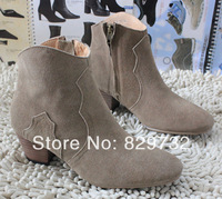 Free shipping 2013 autumn and winter boots women genuine leather shoes women pumps ankle boots