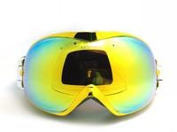 Free shipping dual lens snowboarding eyewear Winter anti-ultraviolet& fog skiing mask/snow goggle colorfun lens Glasses