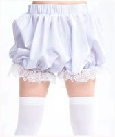 Free Cosplay simple leggings pants anti emptied pants safety pants pumpkin Lolita Maid Leggings