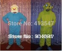 Adventure time 2set/lot  Finn and Jake Promotion!  Pyjamas Cosplay Costume Fleece Lovely Winter Pyjamas Adult Sleepsuit