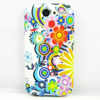 Colorful Art Flower TPU GEL COVER CASE Skin for HTC Desire Bravo G7