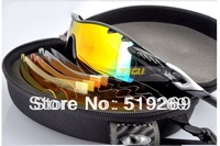 High quality Radarlock path Black blue frame Vented Lens men's Sport sunglasses 5 lens Cycling glasses Radar lock