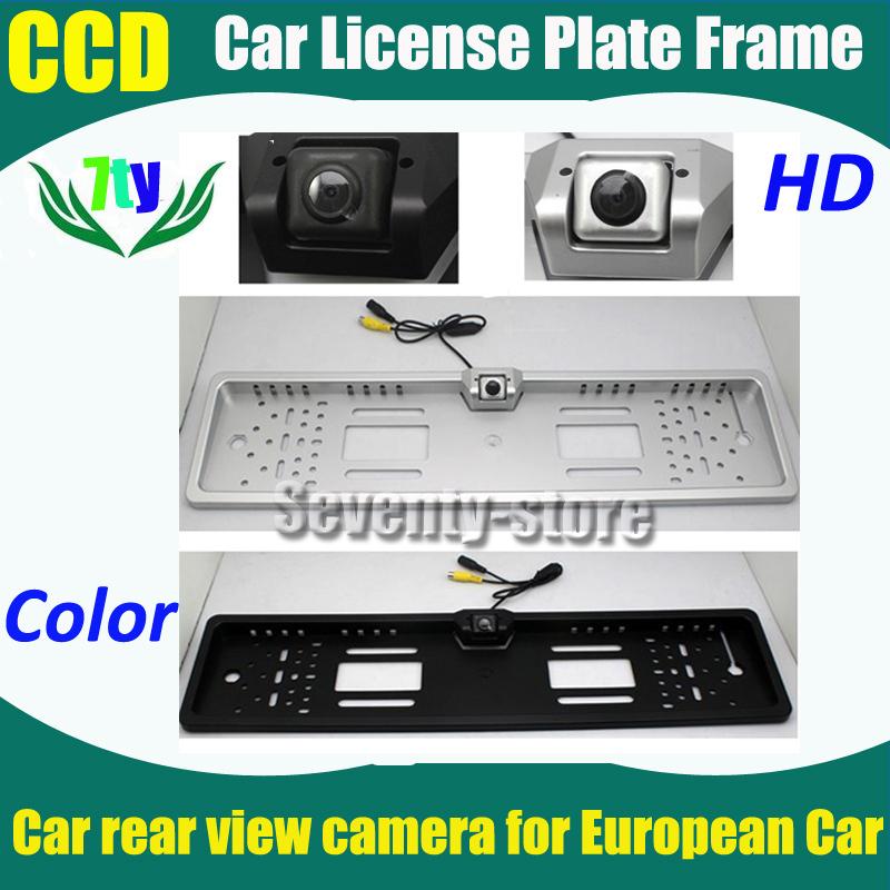 CCD HD Car rear view camera Highest quality Car backup parking camera with EU European Car License Plate Frame(China (Mainland))