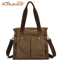 Autumn casual women's canvas bag handbag vintage chain women's shoulder bag large bag