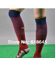 Good quality knee high striped soccer sport stocking men's multicolor football training socks  for famous club team
