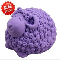 new silicone 3D Cute sheep lovely ram soap mold soap mould Handmade Mould For Soap Candle Candy Jelly Cake Craft