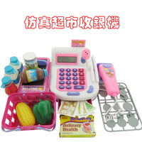 Child 2013 toy set model puzzle supermarket cash register new arrival