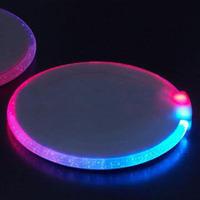 Free shipping! 280pcs/lot! ultra-thin circular LED coaster,cup coaster, LED flash coasters,bar supplies