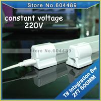20PCS/LOT LED integrated T8 tube 8w 2FT 600MM integration tube lamps