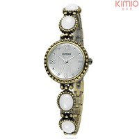 Women original Kimio eyki Antique watch emerald kallaite bracelet for girl Roma dial quartz vintage watch