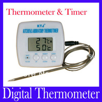 Free shipping high quality Digital Thermometer,Multi-purpose Thermometer & Timer for Kitchen,Factory or BBQ TA238,MOQ=1