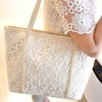 2014 New women's lace handbag shoulder bag women's handbag personality unique casual bag Fashion handbags