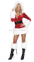 DA8038 Hot Selling HolidayVelvet Short Mini Skirt Costume Sexy Christmas Costumes