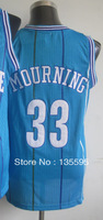 Free Shipping,Cheap Sale 2013 New Arrive Discount Promotion #33 Alonzo Mourning Blue Basketball jersey,Embroidery logos