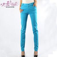 2013 pants fashion plus size elastic straight casual pants