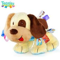 Free Shipping Taggies Tag 'N Play Pals Cute Dog Puppy Baby Animal Soft Stuffed Plush Doll Boy Christmas Gift Developmental Toys