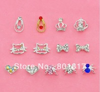 FREE SHIPPING! Crown Hello Kitty and Spider Style DIY Design 3D Nail Art Tips  5pcs Mix Design A Lot