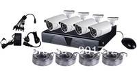 4CH 720P NVR and IP Camera Kit with A-POE features 1 set 1280p/720P NVR and 4pcs 720P Weatherproof IP Camera NVR KIT NVR System