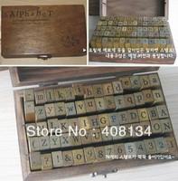 1 set free shipping Wooden Stamps AlPhaBet digital and letters seal 70 pcs set standardized form stamps Regular script letters