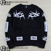 SWAG FASHION BRAND Hood by air hba face clown long-sleeve tee T SHIRT sweatshirt male