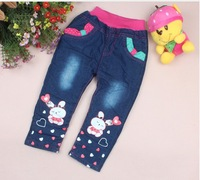 1-2-3-4 old cartoon girls thicken children trousers