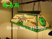 European Sloek billiards chandelier Tiffany glass modern minimalist villa with elongated retro ornaments Casino