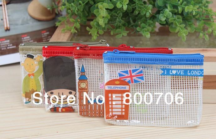 Free shipping!! 80 Pcs Flying London Size 11*8cm PVC Pencil bag / Pencil case / Pen pouch Bag / Cosmetic bag(China (Mainland))