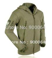 Men Hunting Camping Waterproof Coats Jacket Hoodie 5Size to Choose Green