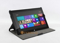 free shipping Heat setting angles Leather Case for Microsoft Windows surface RT 10.6""