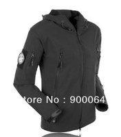 HOT Men Outdoor Hunting Camping Waterproof Coats Jacket Hoodie Black