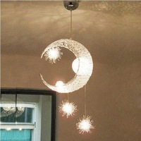 Modern bird nest aluminum light led moon light balcony lamp child moon pendant light