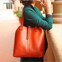 2014 new fashion European and American  handbag vintage leisure shoulder bag brown brand designer leather sling bag