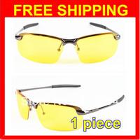 HOT New 2013 Band Designer Sunglass Men's Driver Driving Yellow Lense Polarized Night Vsion Driving Glasses Goggles Reduce Glare