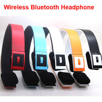 1PCS Free Shipping, Hot Sale Wireless Bluetooth Headsets, 6 Colors Headband Bluetooth Headsets / Headphone /Head phone /Earphone