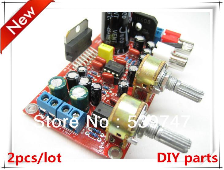 2 jogos/lote 2.1 hi fi TDA7377 + NE5532 pré amplificador três canais placa amplificador subwoofer kit placa mini amplificador(China (Mainland))