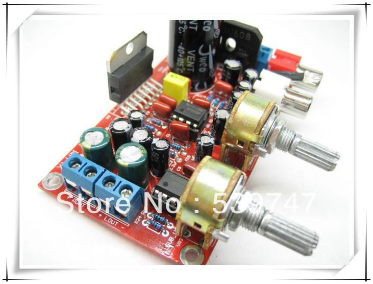 2 pçs/lote 2.1 hi fi TDA7377 + NE5532 pré amplificador três canais placa amplificador subwoofer kit(China (Mainland))