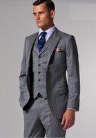 2013 New  Arrival Luxury Brand  Men Tuxedo Wedding Suits Custom Made High Quality Fashion Slim Fit Groom Suit Jacket+Vest+Pants