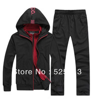 2014 FREE SHIPPING FASHION BRAND MAN SUIT /HOODIE+TROUSERS/SPORT JACKET Sportwear