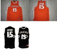 Cheap-Mix Order Syracuse Orange Carmelo Anthnoy #15 Orange Black College Basketball Jersey