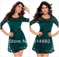 Women Fashion Lace Dresses  Long sleeve Sexy Vintage Dress  Wholesale CL253
