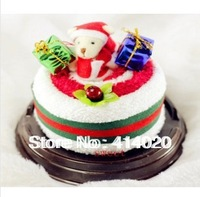 Free shipping(20pcs/lot), Chrismas Party Promotion Gifts! Fashion Cake Towel Gifts,Weeding Gift, Event Favor Giveaway Gift Towel