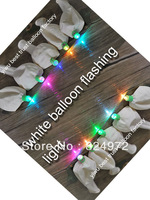 (7 color changing light ) High Quality Light up Helium fill Led Balloons Wedding Decorations  Free Shipping (100pcs/lot)