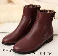 2013 Winter and Autumn Fashion Flat boots Single Double Zipper Women's Motorcycle shoes