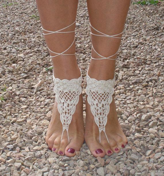 Patrones sandalias descalzas a crochet - Imagui
