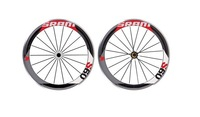 wholesale-SRAM S60 60mm cycling road racing clincher wheelset+novatec hub+quick release glossy/matte